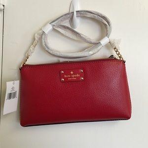 Kate Spade Wellesley Declan Red Mini Crossbody Bag