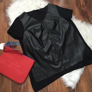 Soprano Tops - Soprano faux leather black top