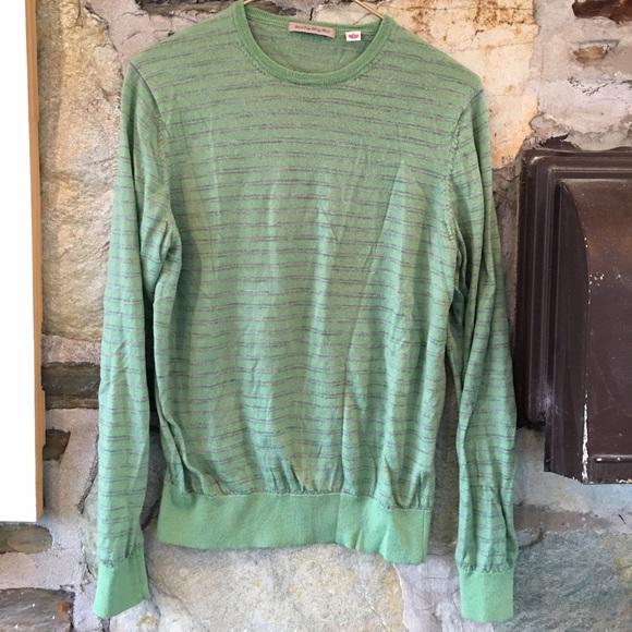 UNIQLO Other - Uniqlo Green + grey extra fine merino wool sweater