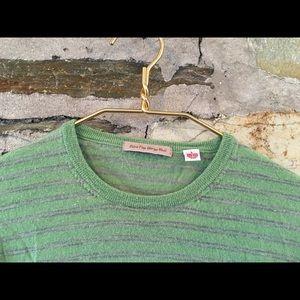 UNIQLO Sweaters - Uniqlo Green + grey extra fine merino wool sweater