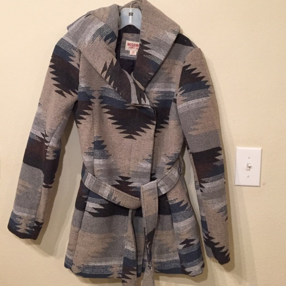 Mossimo Supply Co. Jackets & Coats - Mossimo Aztec Printed Wrap Coat Size S