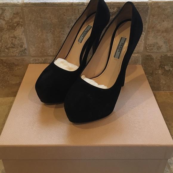 4ce33e8b36ae1 Prada stilettos black size 8 in box