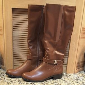 "Alfani Shoes - Alfani ""Jurissa"" scotch color riding boots, HP"