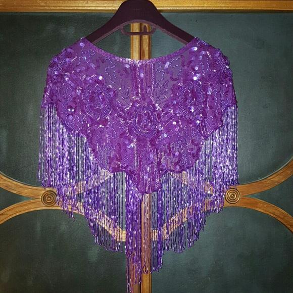Vintage Tops - HOST PICK!!! Vintage glam beaded shawl!