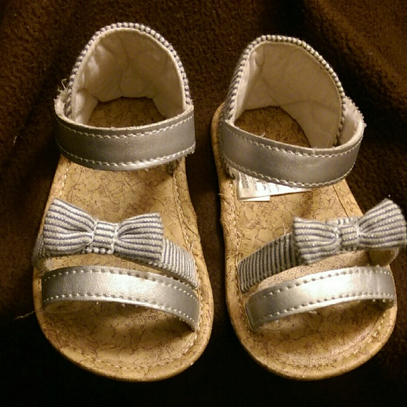 Shoes | Navy Striped Baby Girl Sandals