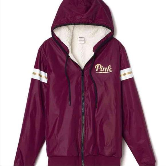 134f8ba51915c VS PINK Sherpa Anorak Jacket NWT