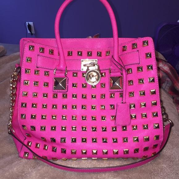 3e23992ce54b Authentic Michael Kors Pink studded Hamilton. M_56660a40d14d7ba8bb0038ac
