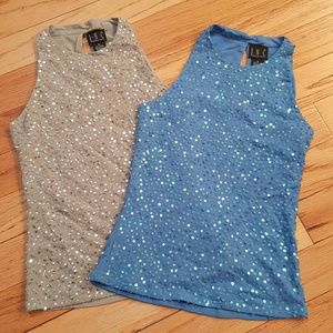 INC International Concepts Tops - I.N.C. Blue Sequin Top NWOT