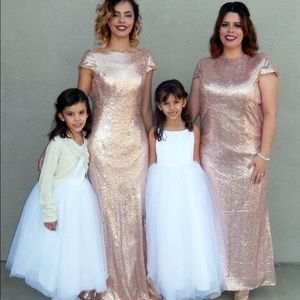 Sequin Long Bridesmaid/Prom Dress