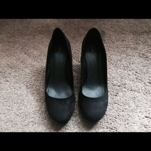 Shoes - Reserved - pair of two black wedge heels Size 9
