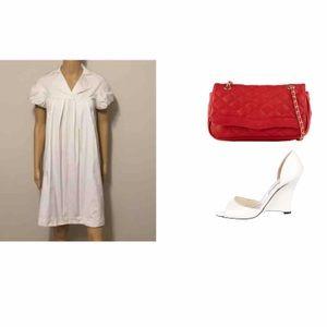 Hoss Dresses & Skirts - Beautiful capped sleeve white  dress