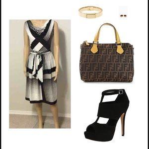 ☑️50's VINTAGE☑️ cowl neck sleeveless dress