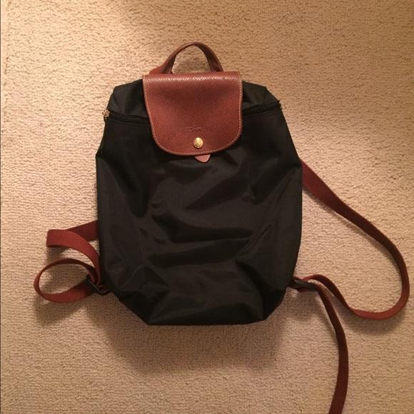 ebee5532daf Longchamp Handbags - longchamp black le pliage backpack