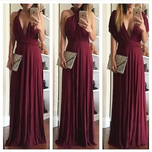 Dresses & Skirts - RESERVED BUNDLE! Multi way burgundy maxi dress