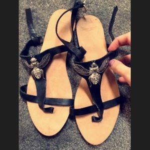 Zara black summer sandals