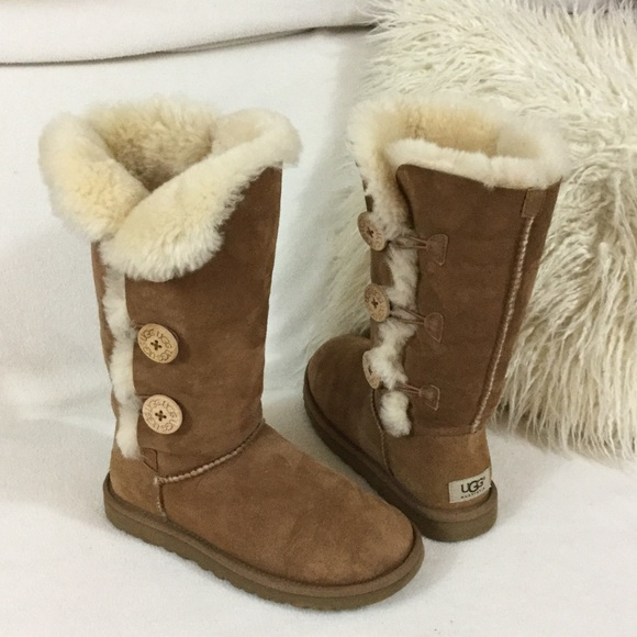 58d1310523d UGG Tall chestnut suede 3 button boots
