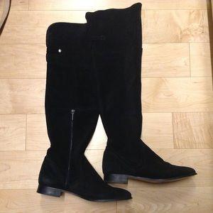 zara zara black suede knee high boot from s closet