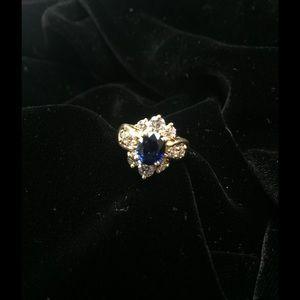 Jewelry - Diamond Sapphire Ring