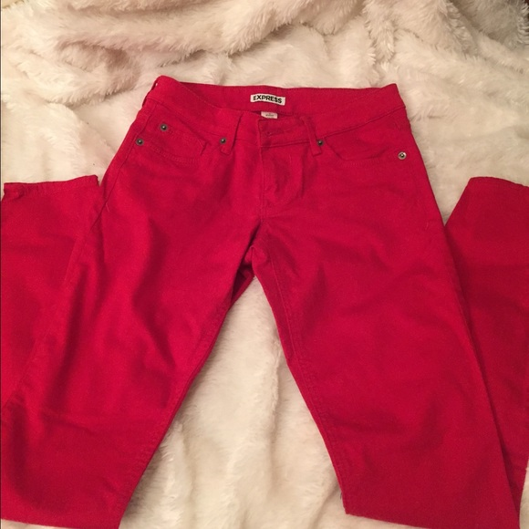 Express - 🎉REDUCED! EUC - EXPRESS RED SKINNY JEANS - SIZE 0 from ...