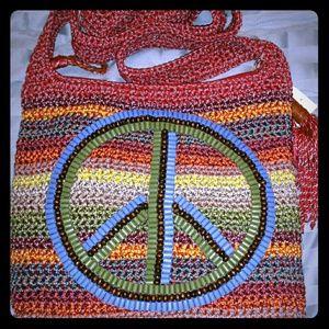 The Sak Bags - ** SOLD** The Sak multicolor Peace crossbody bag