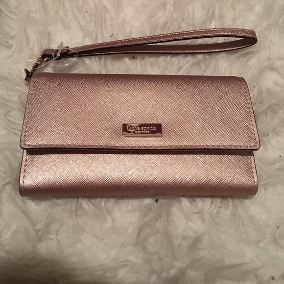 a085589c549 Rose gold wristlet wallet. NWT. kate spade