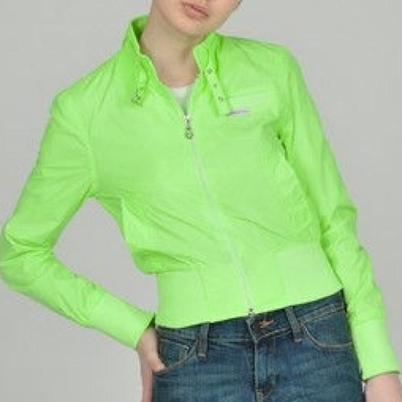 47% off Members Only Jackets & Blazers - Members Only neon green ...