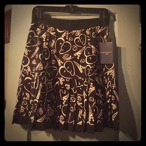 Catherine Malandrino pleated Paris skirt