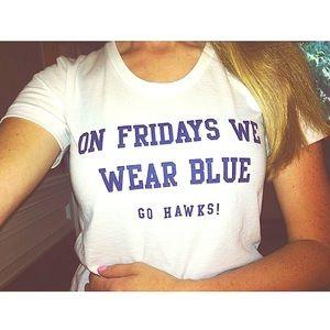 American Apparel Tops - Seahawks Blue Friday Shirt