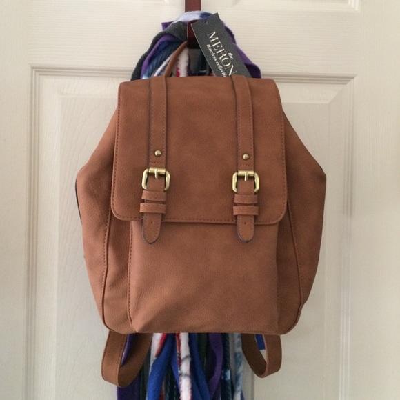 de1946d86b7b Women s Vertical Backpack Handbag - Brown