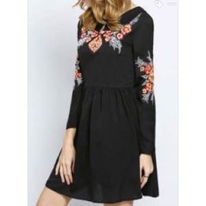 Dresses & Skirts - Long Sleeve Embroidered Dress