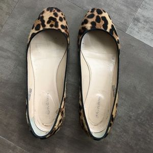 J. Crew Shoes - J.Crew calf-hair flats with low metallic heel
