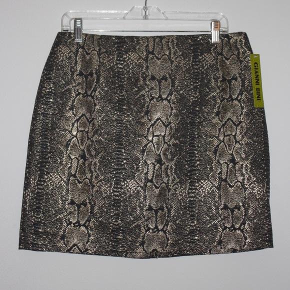 9deaa1e942bc91 NWT Metallic Snake Skin Print Skirt - 10