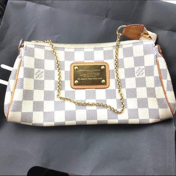 c33ed6f292de Louis Vuitton Handbags - Louis Vuitton Eva clutch damier azur cross-body