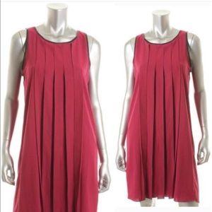 Satchin + Babi Dresses & Skirts - Satchel + Babi Berry Pleated Cocktail Dress