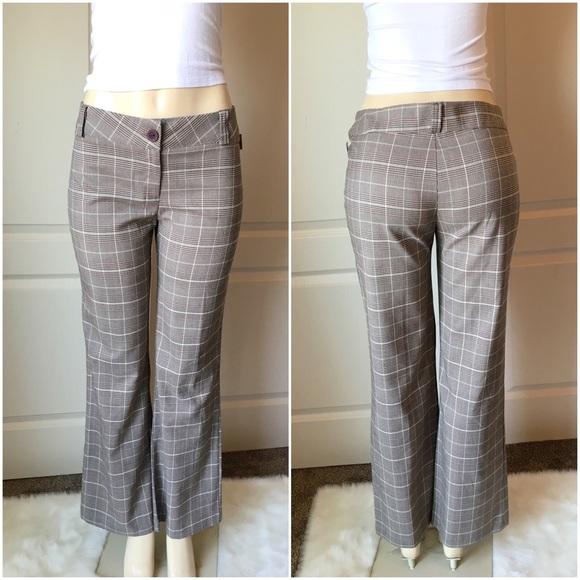 Women\'s Tan Plus Size Plaid Dress Pants NWT