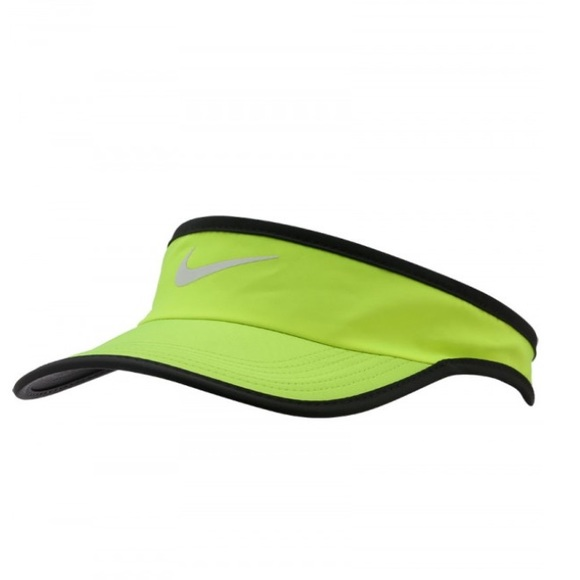 Neon yellow Nike featherlight unisex visor e72a3d2413d