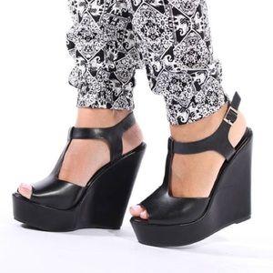 ShuShop Shoes - ShuShop Black 5.5' Wedges