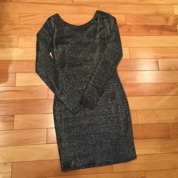 cdb2389b74e22 H&M Dresses   Hm Silver Sparkly Bodycon Dress   Poshmark