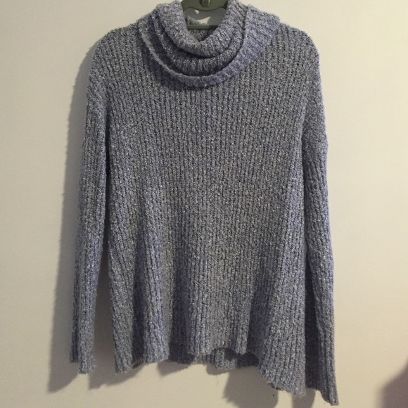 69% off Forever 21 Sweaters - Flowy, light blue turtleneck sweater ...