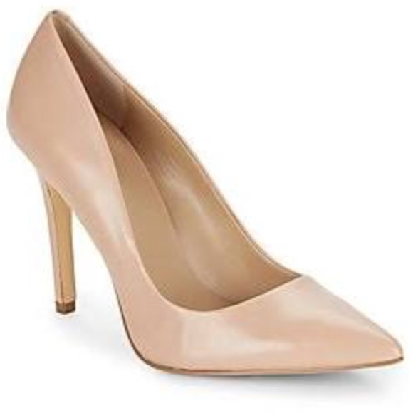 Nude pointed toe pumps Nude Photos 8
