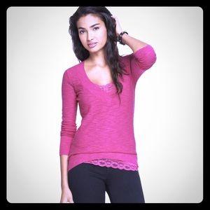 Express Pink V Neck Sweater Size S