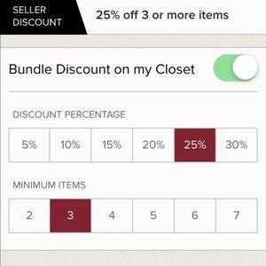 My bundle discount!!