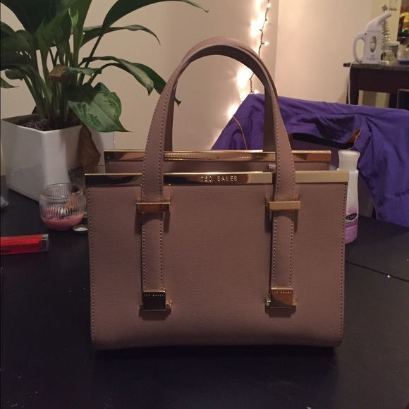 5ed6fc89f9b Ted Baker Bags | Small Crosshatch Leather Tote Bag Cristie | Poshmark