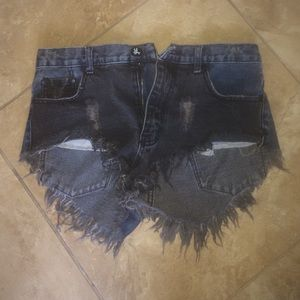One Teaspoon Two Toned Frayed Shorts (26)