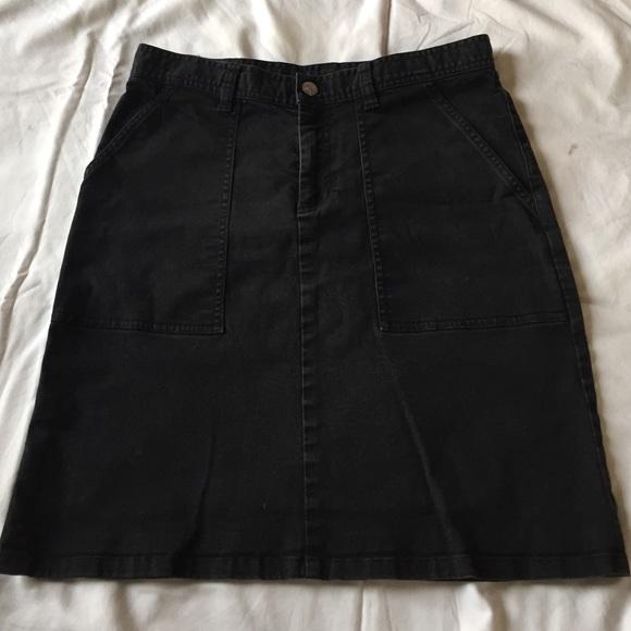 6926d064de Ralph Lauren Black Denim Skirt