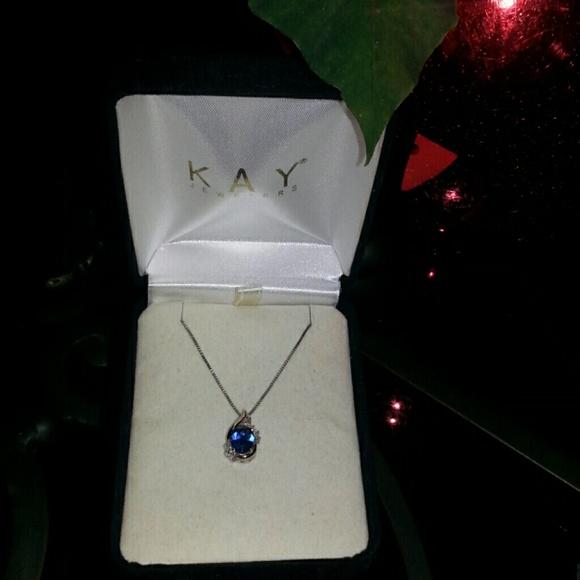 70% off Kay Jewelers Jewelry - Blue sapphire/diamond ...
