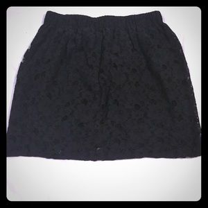 Urban Outfitters black lace mini skirt
