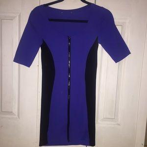 Forever 21 Zipper Front Bodycon Dress