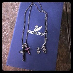 Swarovski Jewelry - Authentic Swarovski double cross necklace