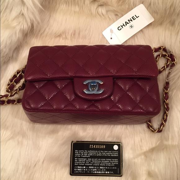 6b2ef5bee376 ... classic mini flap bag in burgundy. NWT. CHANEL.  M_56678d6ad3a2a7a5db02711f. M_56678d6b01985e05fc026f0c.  M_56678d6dfeba1f658b026fb6